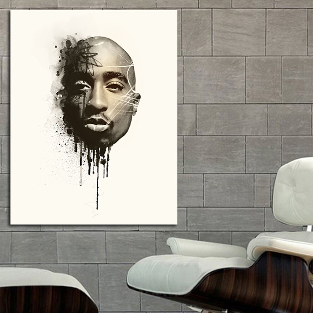 Tupac 2pac Rap Hip Hop Poster Wall Mural Print On Paper