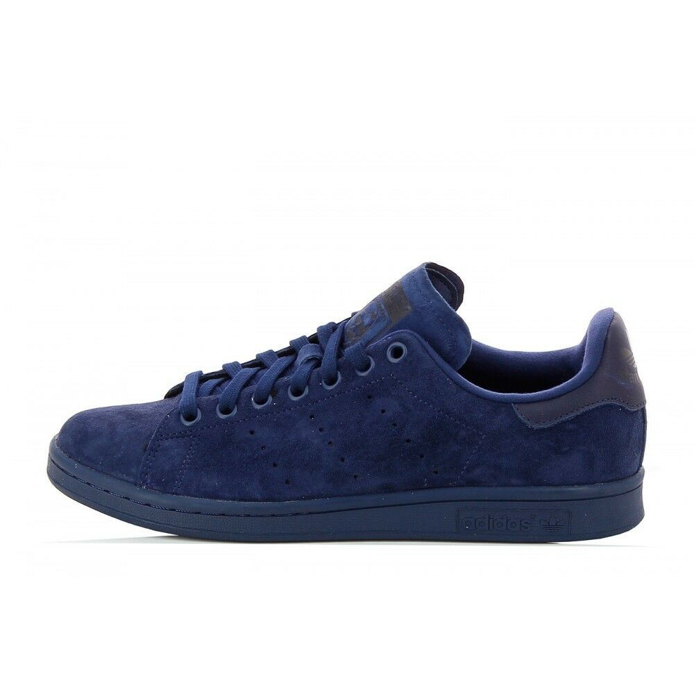 new adidas originals stan smith navy blue suede s75107 superstar rod laver q1 ebay. Black Bedroom Furniture Sets. Home Design Ideas