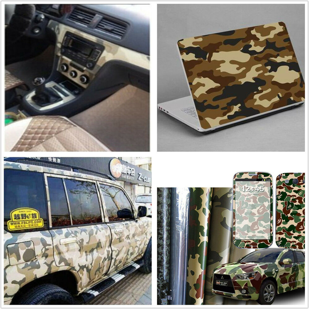 desert camouflage car interior stickers change film console center armrest box ebay. Black Bedroom Furniture Sets. Home Design Ideas
