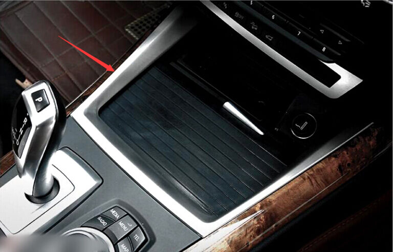 Interior Water Cup Holder Decoration Cover Trim 1pcs For Bmw X5 E70 2008 2013 Ebay