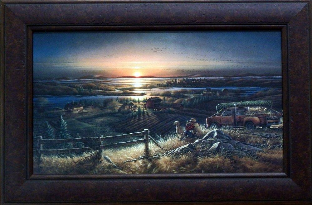 Terry Redlin Best Friends Dog Hunting Textured Print