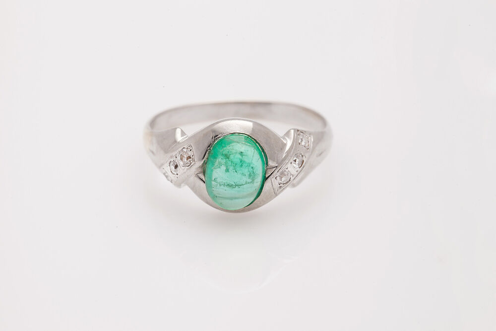 antique 1930s 4000 3ct emerald 18k