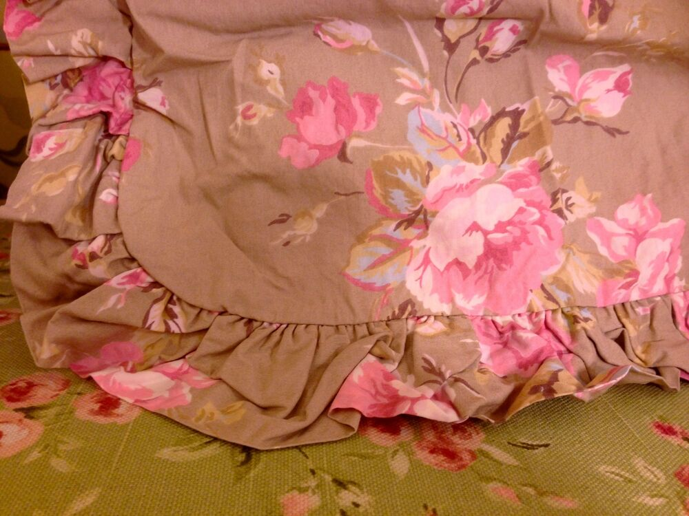 Nwt Rare Simply Shabby Chic Pink Roses Twin Duvet Cover