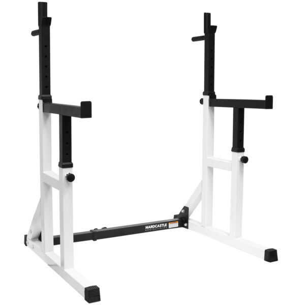 HARDCASTLE SEMI PRO ADJUSTABLE GYM SQUAT FRAME RACK & DIP STAND WEIGHT LIFT CAGE