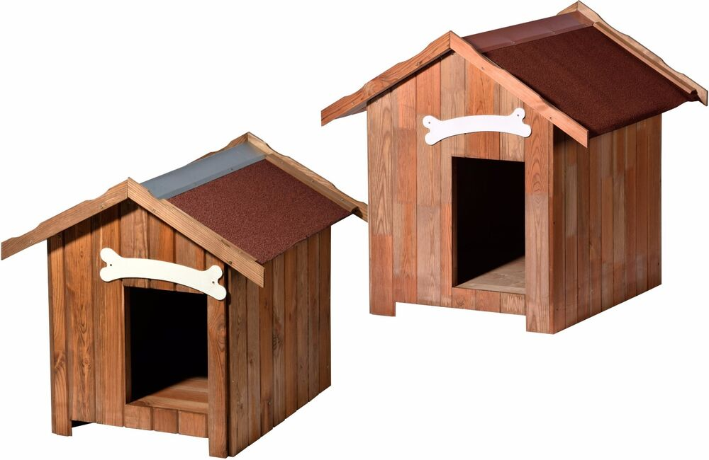 hundeh tte isoliert klein gro hundehaus hundezwinger hundeplatz holz rot l xl ebay. Black Bedroom Furniture Sets. Home Design Ideas