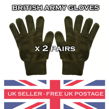 img-2 x Olive Green British Army Cadet Gloves Military Vintage Surplus Winter Wear