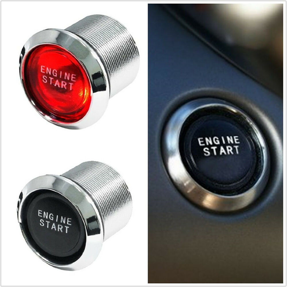 Car Suv Keyless Engine Ignition Power Switch Blue Led: Car SUV Engine Start Push Button 12V Red LED Light