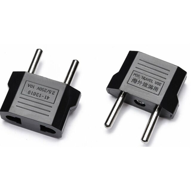 American US To European EU Power Outlet Plug Adapter