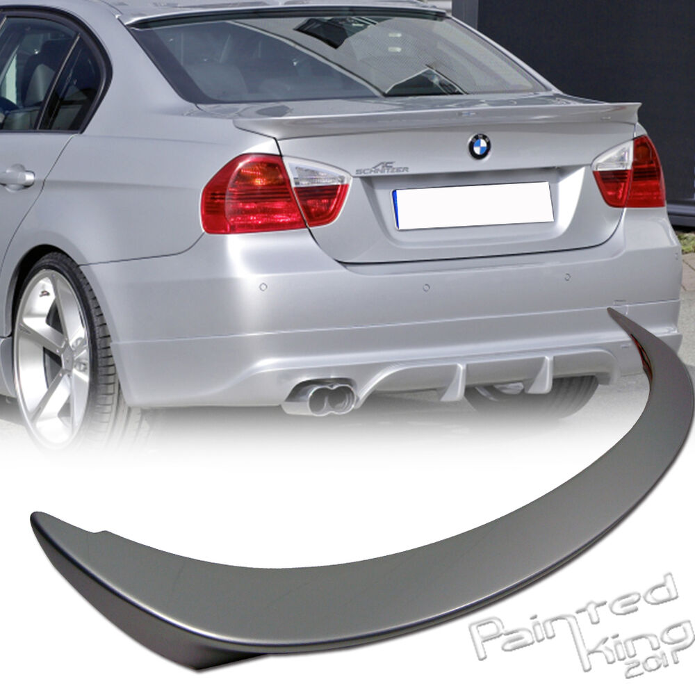 painted color bmw e90 3 series a type rear trunk spoiler. Black Bedroom Furniture Sets. Home Design Ideas