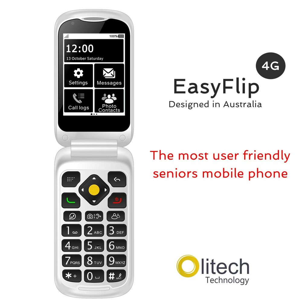 Olitech Easy Mate+ 3G SENIORS MOBILE PHONE BIG BUTTON ...