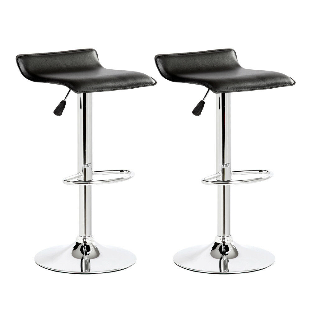 Black Adjustable Low Back Hydraulic Lift Bar Stool