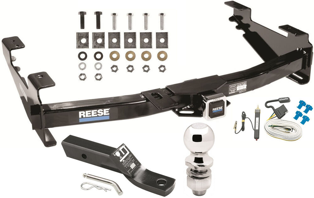 complete trailer hitch pkg w wiring kit for 2001 07 chevy. Black Bedroom Furniture Sets. Home Design Ideas