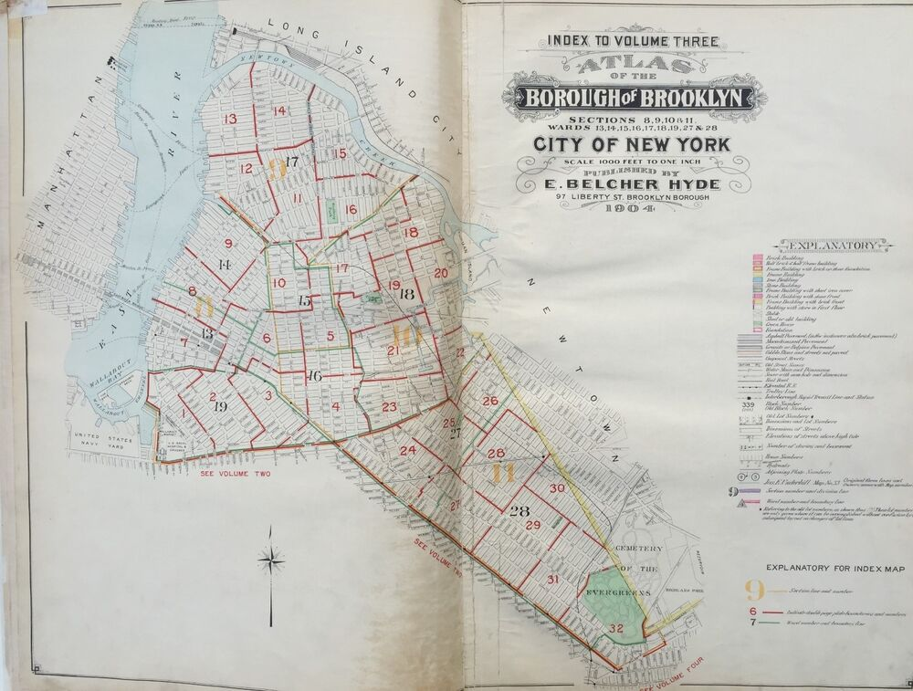 City Md Williamsburg >> 1904 INDEX PAGE FOR WILLIAMSBURG, GREENPOINT & BUSHWICK