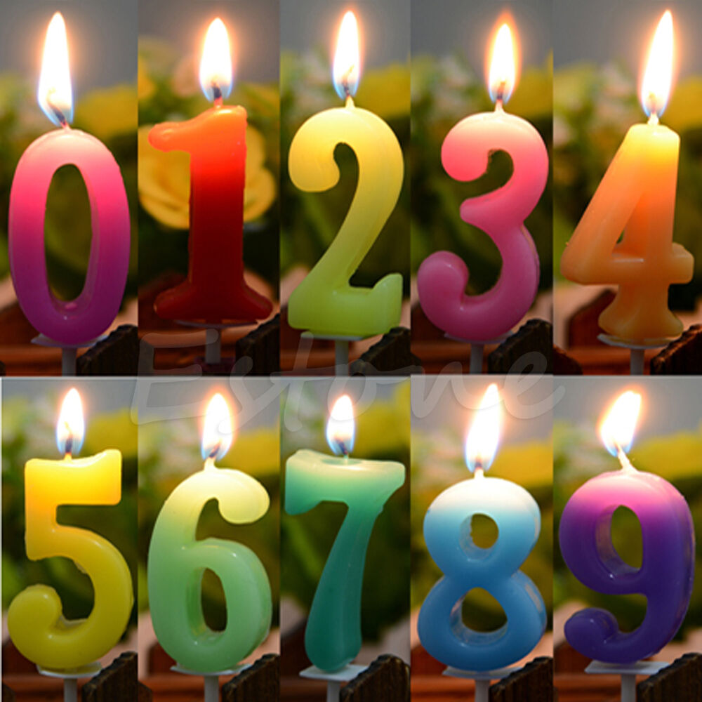Numbers Birthday Festival Cake Candle Party Celebration