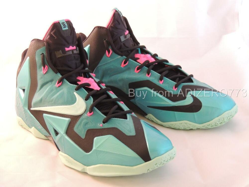 aaad1f2ab6e Details about Nike Lebron 11 South Beach Miami 616175 330 Men s Size 11.5 US