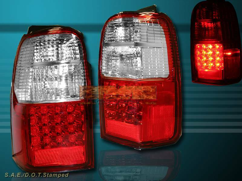 1996 2000 toyota 4runner red led tail lights pair new ebay. Black Bedroom Furniture Sets. Home Design Ideas