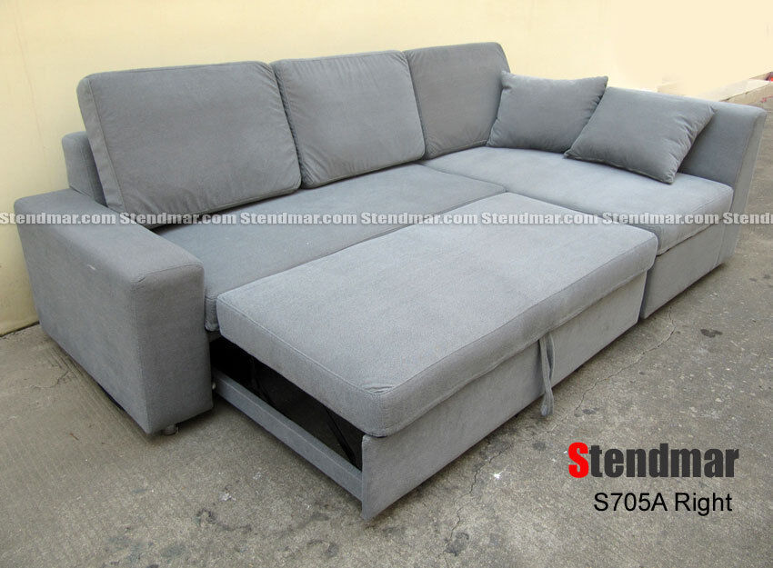 New modern futon sleeper bed sectional sofa set s705a ebay for Sectional sofa bed ebay
