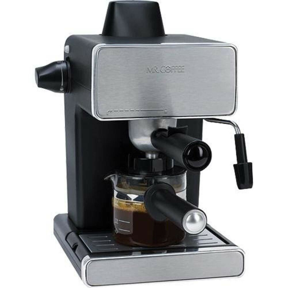 Mr Coffee Steam Espresso Machine Stainless Steel Black