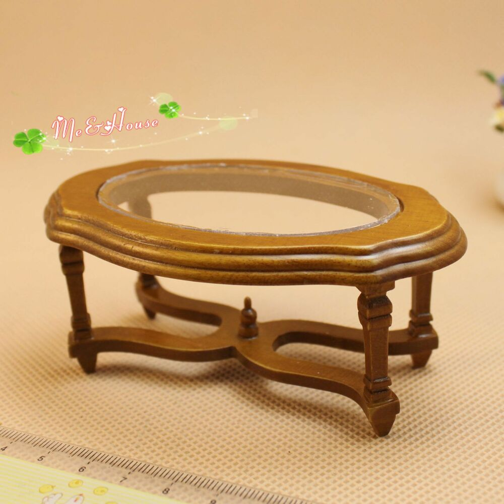 1 12 Dollhouse Miniature Furniture Traditional Wooden Coffee Side End Table Desk Ebay