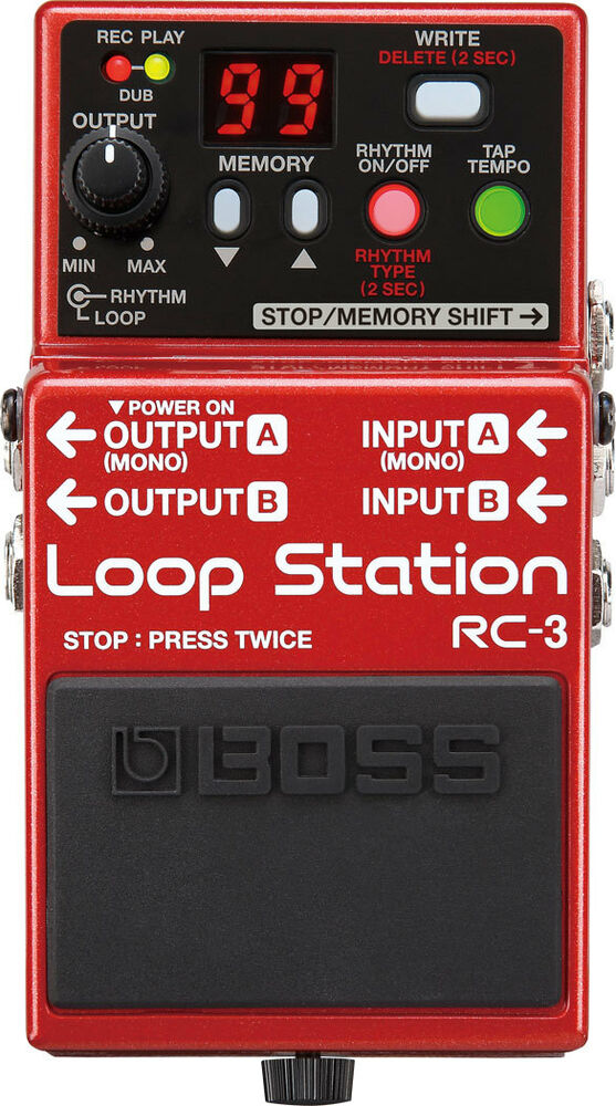 roland boss rc 3 loop station guitar effects pedal live hardware guitar bass 761294500071 ebay. Black Bedroom Furniture Sets. Home Design Ideas