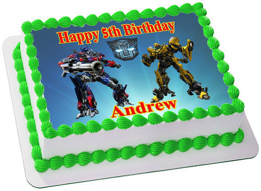 Edible Cake Decorations Transformers : TRANSFORMERS REAL EDIBLE ICING CAKE TOPPER PARTY IMAGE ...
