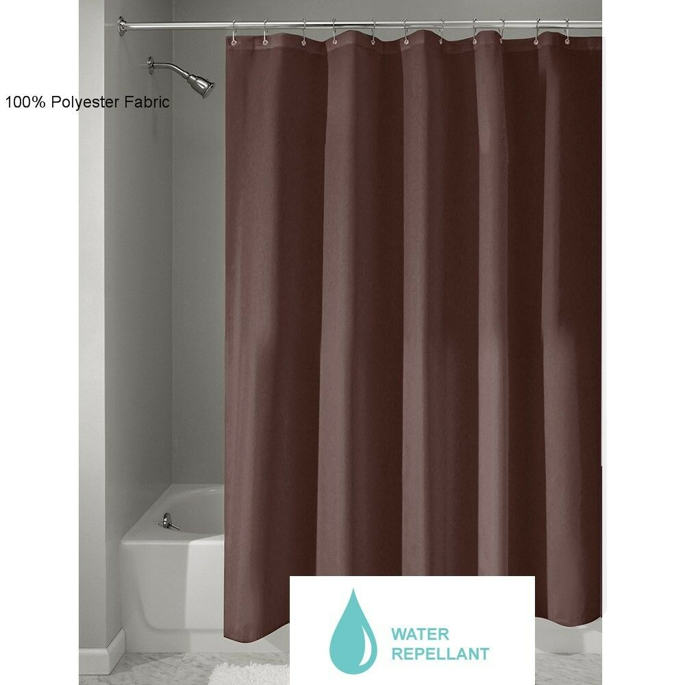 Fabric Shower Curtain Or Liner Liner Quality 70 X 72 Brown 100 P