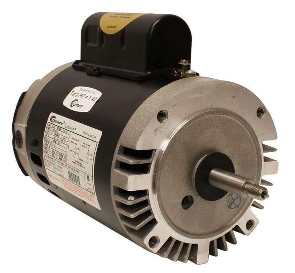 A o smith century b128 full rate 1hp 3450rpm c face pool for Ao smith replacement motors