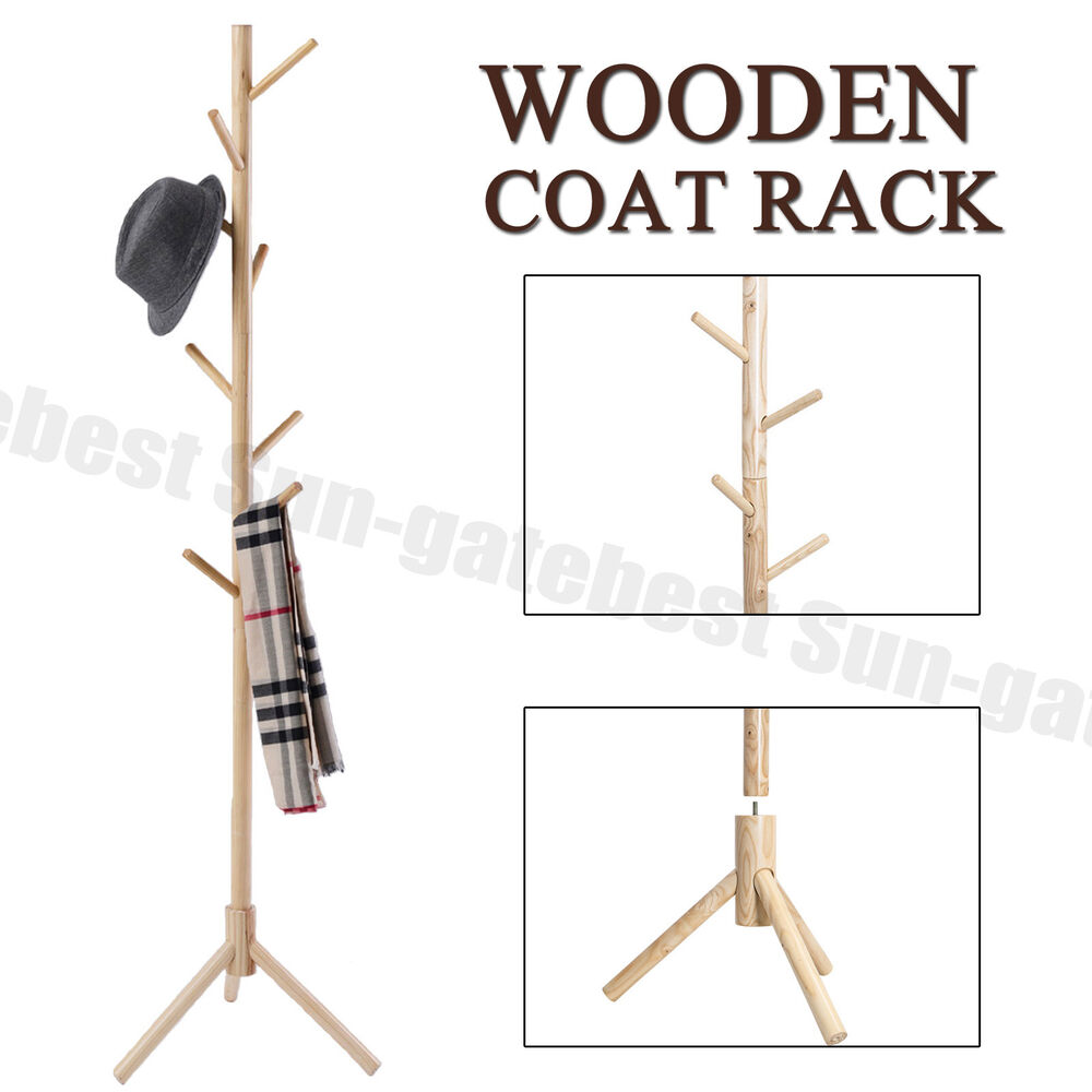 coat hanger stand 9 hooks 4 colors coat hat bag clothes rack stand tree 29353