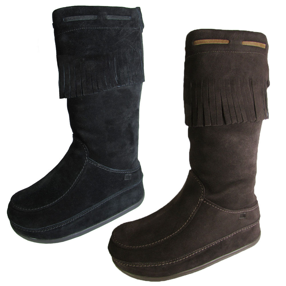 fitflop womens superfringe mukluk knee high suede boot