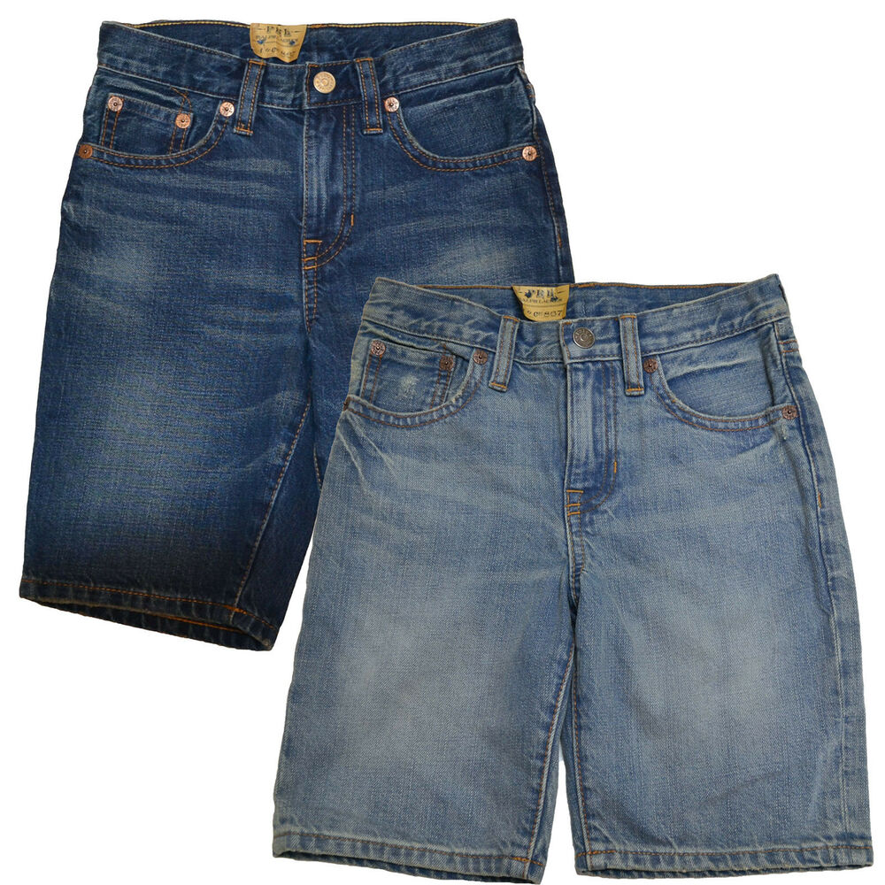Polo Ralph Lauren Boys Shorts Kids Blue Jeans Denim Casual New Nwt V175p | eBay