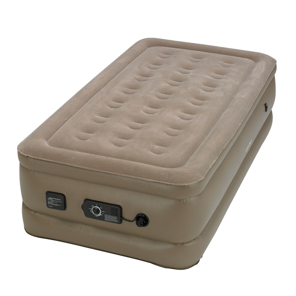 InstaBed Raised Twin Air Bed Mattress with Built-In Never ...