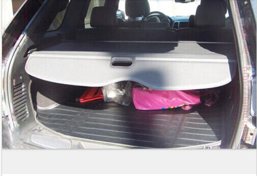 trunk shade black cargo cover for jeep grand cherokee 2011 2012 2013 2014 2015 ebay. Black Bedroom Furniture Sets. Home Design Ideas