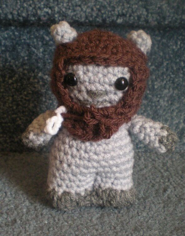 Amigurumi Hand Crocheted Star Wars Ewok Chief Chirpa 5 ...