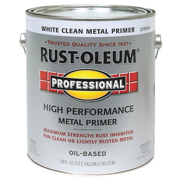 2 gal rustoleum stops rust voc flat white clean metal. Black Bedroom Furniture Sets. Home Design Ideas