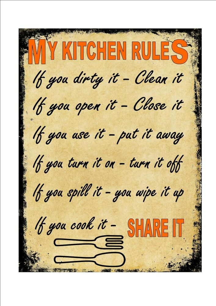 Small Kitchen Plaques