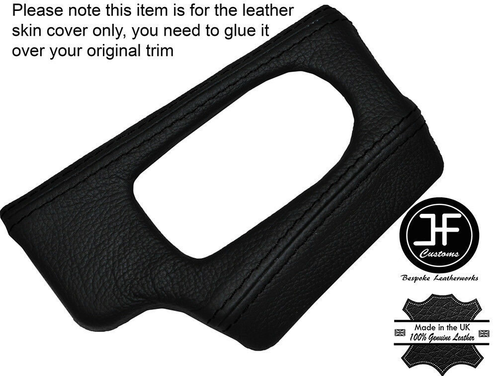 Black Leather Dash Dashboard Headlight Switch Trim Cover