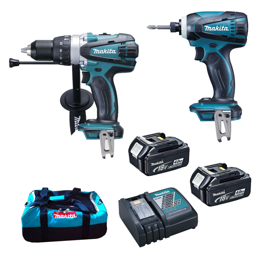 makita dlx2005 18v lxt combi 2 piece kit dhp458 drill dtd146 impact driver ebay. Black Bedroom Furniture Sets. Home Design Ideas
