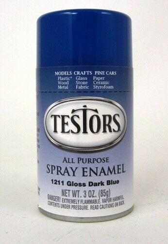 model master gloss dark blue enamel spray paint can 3 oz 1211 ebay. Black Bedroom Furniture Sets. Home Design Ideas