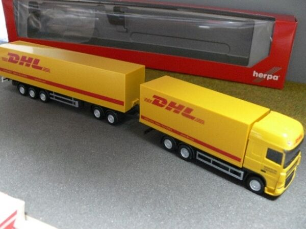 1 87 herpa daf xf 105 ssc dhl koffer hz 303293 ebay. Black Bedroom Furniture Sets. Home Design Ideas