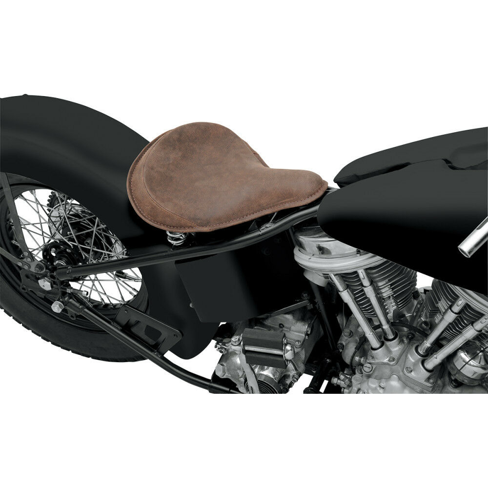 single spring bobber seat Focus: chopper seats written by: the color and craftsmanship on this bates-style spring-mounted solo seat is unassailable it's a bobber.