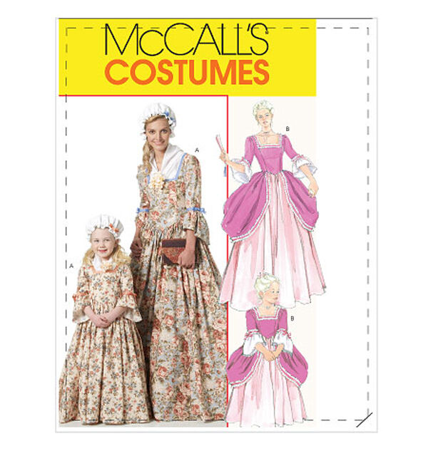 Renaissance Wedding Dress Costume History Mccall S By Heychica: OOP NEW McCALLS DRESS GOWN BONNET AMERICAN COLONIAL