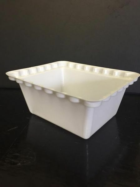 White plastic dessert bowls trifle pot small ebay for Plastic canape dishes