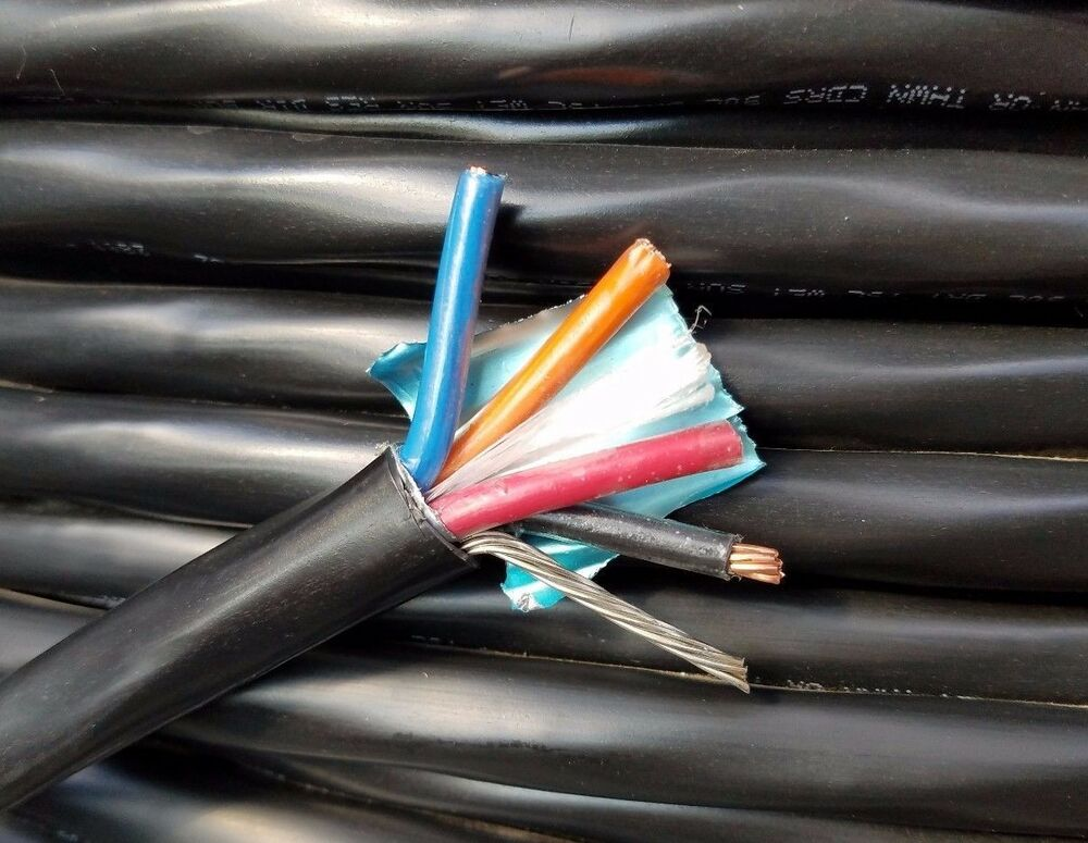 1 10 4 Awg Copper Tray Cable W Drain Wire Foil Shielded