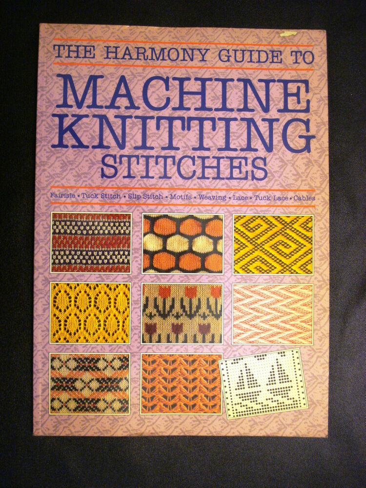 Book Cover Pattern Guide ~ Vintage the harmony guide to machine knitting stitches