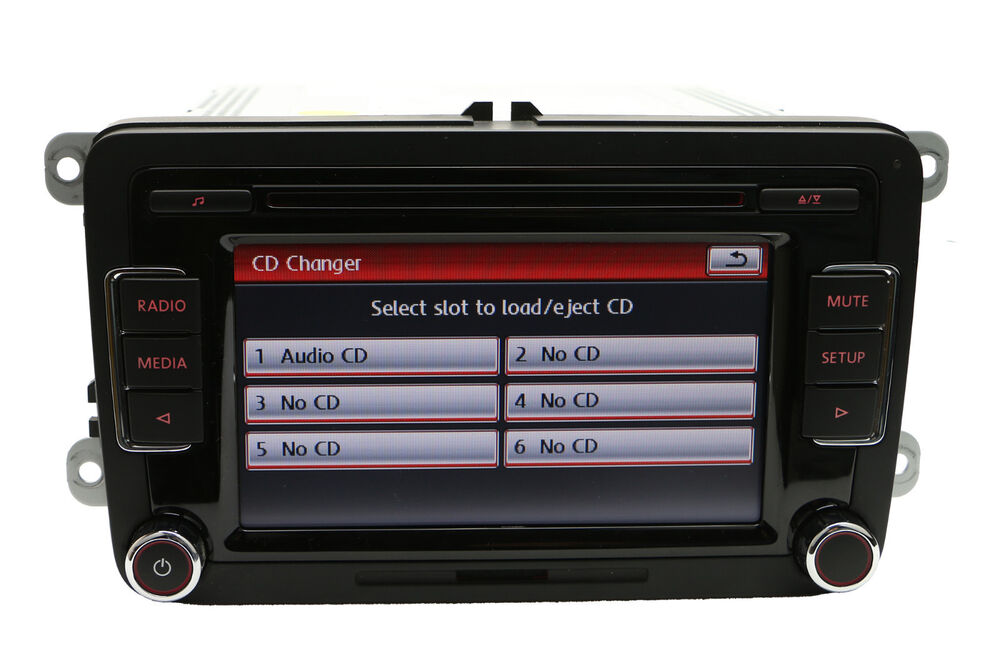 volkswagen rcd510rvc 6 disc cd player rcd510 radio golf. Black Bedroom Furniture Sets. Home Design Ideas