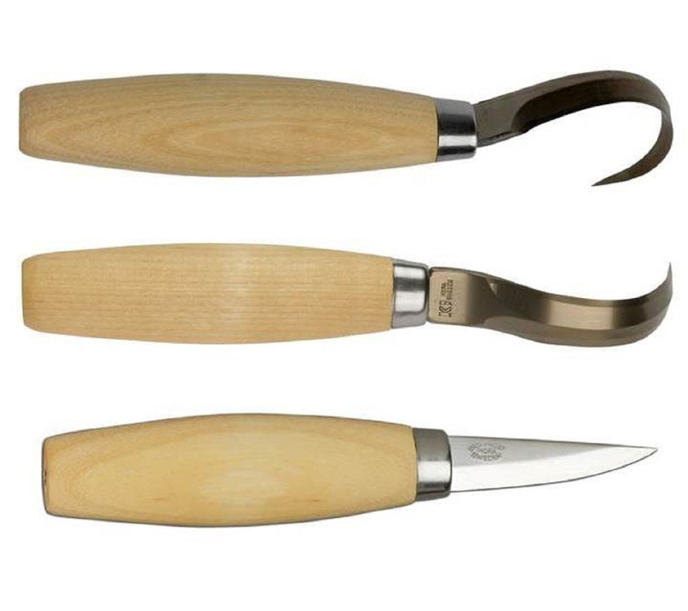 Mora wood carving knife bundle models hook