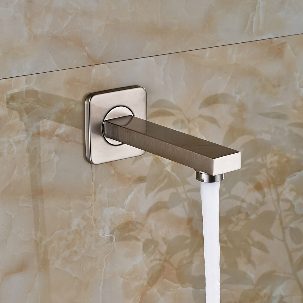 Nickel Brushed Waterfall Bathroom Tub Faucet Wall Mounted Shower Replacement Tub Ebay