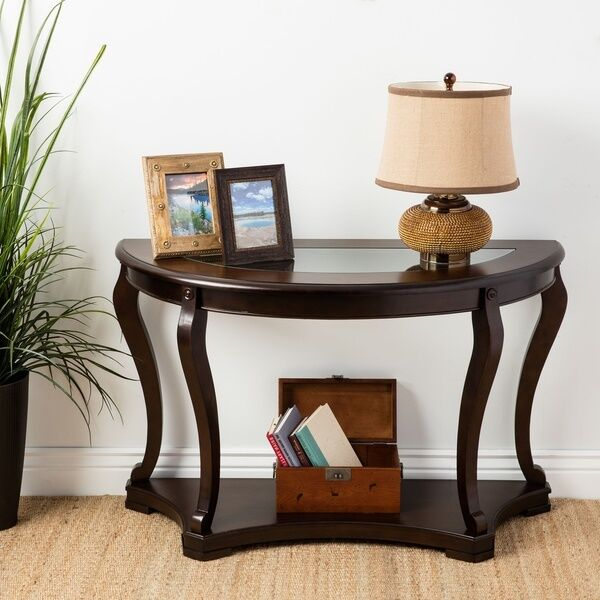 Foyer And Entryways Uk : Entryway table console wood half moon sofa accent glass