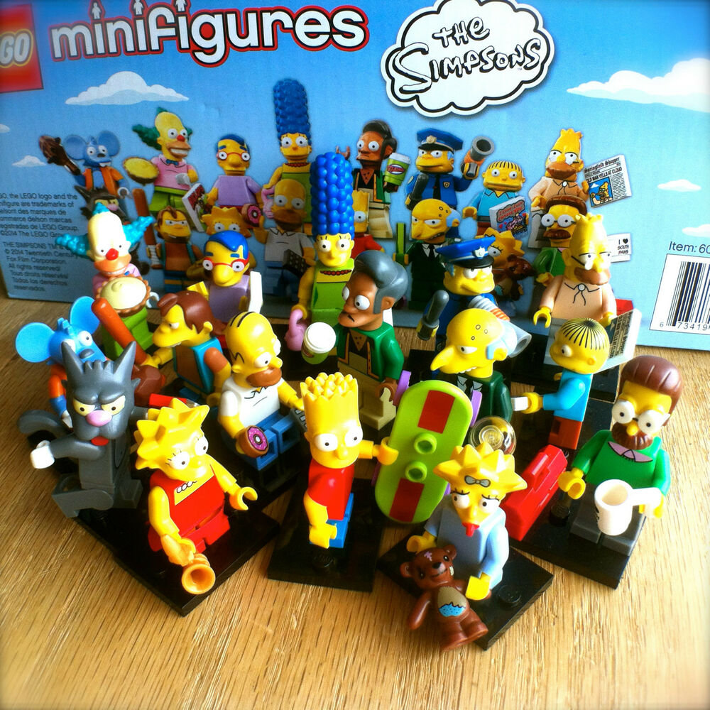 lego 71005 the simpsons minifigures complete set of 16 sealed minifigs series 1 ebay. Black Bedroom Furniture Sets. Home Design Ideas