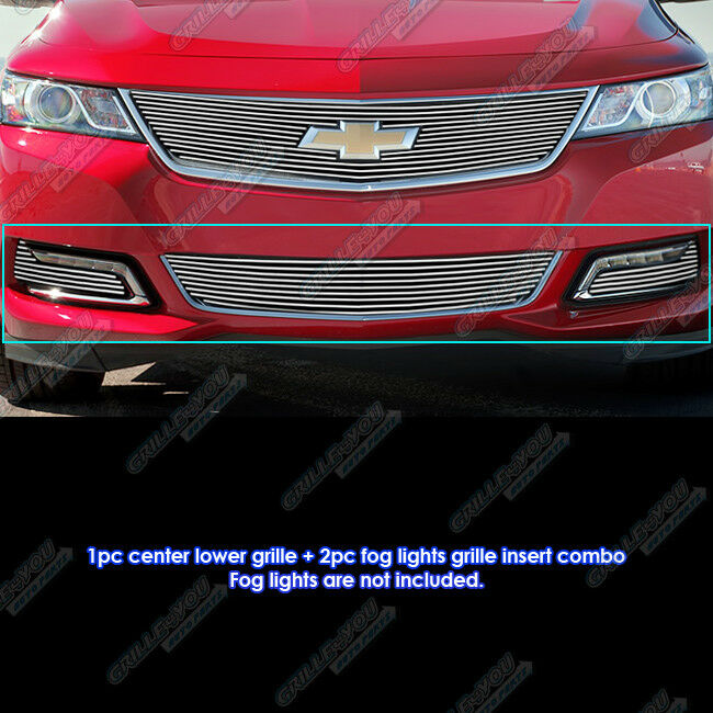 fits 2014 2015 chevy impala bumper fog light cover set. Black Bedroom Furniture Sets. Home Design Ideas